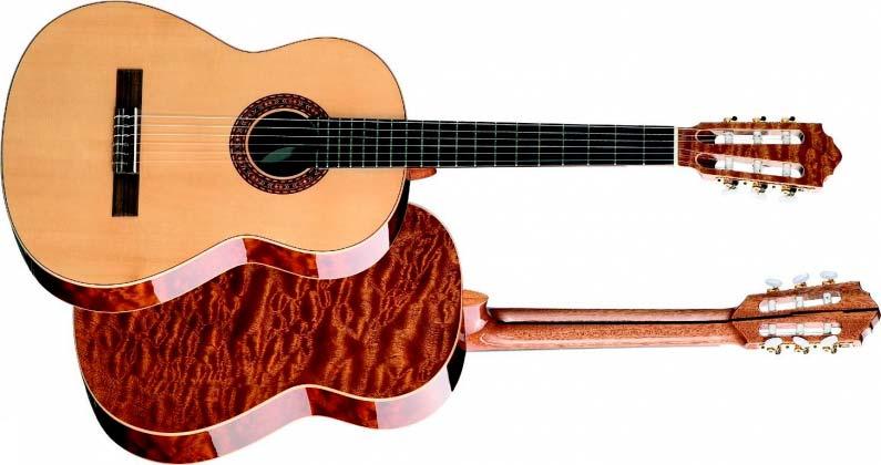 Классическая гитара вид сверху и снизу