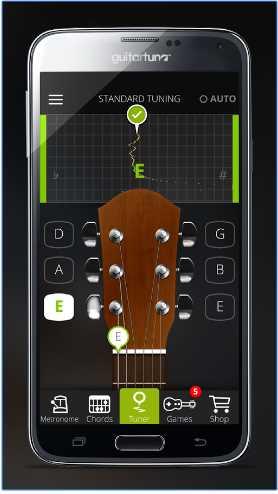 Условно бесплатный тюнер для гитары скрин экрана